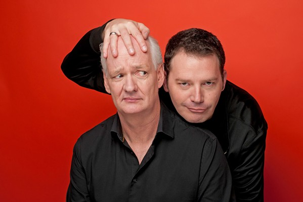 TWO HEADS ARE BETTER THAN NONE Attendees of this year's Scared Scriptless tour, co-hosted by comedians Colin Mochrie (left) and Brad Sherwood (right)—both widely known for their work on Whose Line Is It Anyway?—are at risk of being chosen to participate in a variety of improv shenanigans. - PHOTO COURTESY OF SCARED SCRIPTLESS