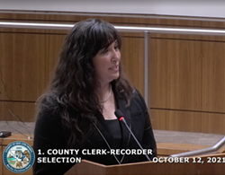 NEW ELECTION OFFICIAL Elaino Cano (pictured) was selected as SLO County's interim clerk-recorder on Oct. 12. Cano is currently the election's divison manager in Santa Barbara County. - SCREENSHOT COURTESY OF SLO COUNTY