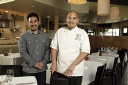 UP FOR ACCOLADES :  Chris Kobayashi (right) has twice been nominated for a James Beard Foundation honor. The chef at Artisan, pictured here with his brother and business partner Mike (left), has a farm-to-table philosophy that showcases local farms, ranchers, and wineries. - PHOTO BY STEVE E. MILLER