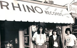 GO TO RHINO RECORDS :  As a record store, Rhino achieved cult status as a haven for hardcore music misfits. As a record label, it launched careers, pioneered the boxed set (seriously), and was cherished by music lovers around the globe. Director Keith Shapiro peers into the bizarre and wonderful culture of Rhino Records in the world premiere of Rhino Resurrected. And yes, that is a photo of the Ramones in front of the store. - PHOTO COURTESY OF KEITH SHAPIRO