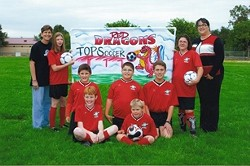 GO RED DRAGONS! :  This soccer team of special needs kids learned some valuable lessons—and taught some too—playing in the Atascadero Youth Soccer Association last season. - PHOTO COURTESY OF THE RED DRAGONS