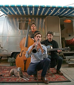 HIPSTERS:  Gypsy jazz, tango, samba, and chanson act the Shoestring Trio is amazing, and they're playing at Steynberg Gallery on May 17. - PHOTO COURTESY OF SHOESTRING TRIO