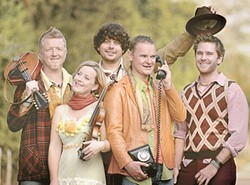 TITANIC BAND! :  Gaelic Storm, the Irish band from the film Titanic, brings its rollicking, reeling, Celtic stomp music to the Performing Arts Center's Cohan Center on Oct. 21. - PHOTO COURTESY OF GAELIC STORM
