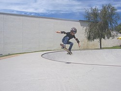 ROUGH TRUCKS :  The Central Coast Monster Skate Park Series takes place on April 4 in Grover Beach, 1750 Ramona Drive, April 18 in Templeton at 6th and Main Streets, May 2 at the Paso Robles Skate Park at 19th and Riverside, May 16 in SLO at Santa Rosa Park, and May 30 in Los Osos, 2180 Palisades Ave. Participate or watch, but don't miss this one-of-a-kind skateboarding event. Registration starts at 9 a.m., the contest begins at 11 a.m. Info on the skateboarding contests is available at ccmonsterskate.com. Monument Board Shop cultivates local skating talent. They're located in Arroyo Grande at 1402 Grand Ave. Info: monumentboardshop.com or 473-1144. - IMAGE COURTESY OF LIZ MUGUIRA