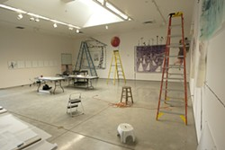 UNDER CONSTRUCTION :  Pictured is the Cuesta College Art Gallery as it appeared a few days before the opening of Super 8mm. - PHOTO BY STEVE E. MILLER