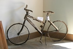 DON'T TOUCH! :  This bike with driftwood additions is one of the few things in the gallery too delicate to touch. - PHOTO BY GLEN STARKEY