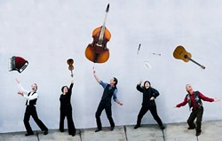GENRE JUGGLERS :  Step right up and witness the greatest show on earth when Café Musique performs two album release parties: July 10 at Cambria's Theatre at the Old Grammar School; and July 17 at Castoro Cellars Winery. - PHOTO COURTESY OF CAFÉ MUSIQUE