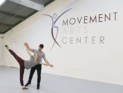 LET'S KEEP DANCING:  San Luis Obispo Movement Arts Center owners Ryan Lawrence and Maartje Lawrence-Hermans first met and fell in love while dancing professionally in the Scapino Ballet Rotterdam in the Netherlands. Today the pair choreographs and teaches dance in San Luis Obispo. - PHOTO BY DYLAN HONEA-BAUMANN