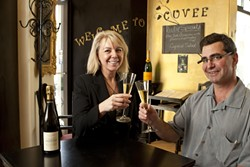 DELICIOUS BUBBLES :  Fran and Frank Radogna recently took over ownership of the Cuvée Champagne bar in Avila Beach. - PHOTOS BY STEVE E. MILLER