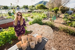 OUTDOORSWOMAN:  Betsi Clark has woven her love of nature, health, and fresh flavors to her boutique, flavorful Grrrnola. - PHOTO BY KAORI FUNAHASHI