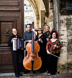 SO EURO!:  Café Musique, in a photo from its trip to France last year, will play Steynberg twice on March 24 and Cambria Presbyterian Church on March 25. - PHOTO COURTESY OF CAFÉ MUSIQUE