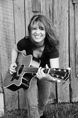 ROCK GODDESS :  Randy Rhoads taught Janet Robin how to play guitar, and she's backed folks like Michelle Shocked and Fleetwood Mac's Lindsey Buckingham, but on Jan. 9 she performs at Sculpterra Winery. - PHOTO COURTESY OF JANET ROBIN
