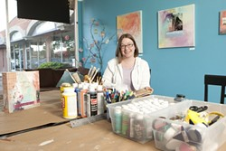 OPEN FOR ALL :  Erin Kenepp, co-owner of Studio MPK, holds weekly workshops and open studio hours for the community of Paso Robles to stop by and take part in the creative arts. - PHOTO BY STEVE MILLER