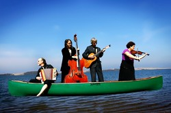 GYPSY TRIPPERS :  Gypsy, tango, and beyond await at Painted Sky Studios on Feb. 6 when Café Musique paddles in for a show. - PHOTO COURTESY OF CAFÉ MUSIQUE