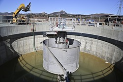 LONG OVERDUE:  The Los Osos wastewater plant approaches completion after decades of delay. The plant plays a key role in the Los Osos Water Basin Management Plan, using recycled water to replenish the basin and curb seawater intrusion. - PHOTO BY DYLAN HONEA-BAUMANN