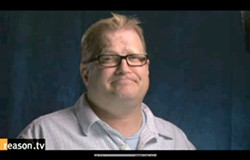 DREW'S NEWS:  In a new video, comedian Drew Carey is taking up the cause of Arroyo Grande's Charles Lynch, who faces federal charges for running a shuttered Morro Bay medical marijuana dispensary. - IMAGE COURTESY OF REASON.TV