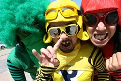 """DON'T EAT THE BROWN ACID :  Peelander-Z plays a free in-store at Cheap Thrills followed by a show at Mother's Tavern on April 1, bringing its NYC-based Japanese """"action comic"""" punk style to the Central Coast. - PHOTO COURTESY OF PEELANDER-Z"""
