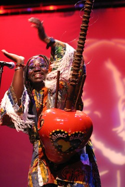 AFRICAN PRINCE:  Prince DiabatÈ, a kora player and singer from Guinea, West Africa, plays two SLO Folks shows: May 23 at Coalesce Bookstore and May 24 at Castoro Cellars. - PHOTO COURTESY OF PRINCE DIABAT…