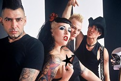 "HORROLECIOUS! :  Pop punk and psychobilly heroes the HorrorPops return to Downtown Brew Sept. 25 for a stop on the band's ""All Hallows Eve Tour 2008"" tour. - PHOTO COURTESY OF HORRORPOPS"