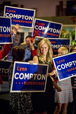 """SIGNAGE SITUATION:  On Sept. 2, the California Fair Political Practices Commission (FPPC) issued a warning letter to the campaign of Lynn Compton, a candidate for San Luis Obispo County's 4th supervisorial district. The commission found that Compton """"failed to report the value of the use of a vehicle and a trailer … as an in-kind contribution on your campaign statements."""" - FILE PHOTO BY HENRY BRUINGTON"""