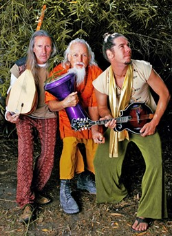 REAP IT! :  World Wind and bassist Viking Burkhiser will join forces to play two ecstatic dance events: June 7 at Inner Rhythms and June 9 at the SLO Monday Club. - PHOTO COURTESY OF WORLD WIND AND VIKING BURKHISER
