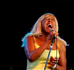 HOT STUFF:  Killer blues and R&B act Café R&B, fronted by the incredible singer known only as Roach, plays the SLO Vets Hall on Dec. 6. - PHOTO BY BOB HAKINS