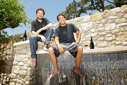BIG AND BOLD :  Vina Robles winemakers Matthias Gubler (left) and Aaron Jackson (right) make spicy, complex Petite Sirah wines. - PHOTO BY STEVE E. MILLER