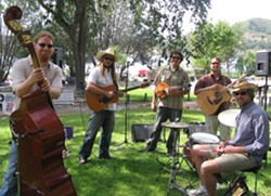 AMERICANA SWEETHEARTS! :  Bluegrass and folk act Cuesta Ridge hits the Red Barn on Nov. 6. - PHOTO COURTESY OF CUESTA RIDGE