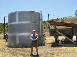 PROUD PAPA :  Glenn Wensloff built a BioReactor for Chumia Wineyards in Paso Robles. - PHOTO COURTESY OF GLENN WENSLOFF