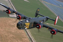 HEAVY BOMBER! :  Witchcraft is the only operational B-24J , and a lucky few folks with a spare $425 can take a 30 minute flight in it or the B-17 (not pictured). - PHOTOS COURTESY OF THE COLLINGS FOUNDATION