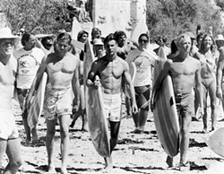 MAKING WAVES:  This year's Spotlight Award honors John Milius, the director of the surf film classic, 'Big Wednesday,' starring Jan-Michael Vincent, William Katt, and Gary Busey. - PHOTO COURTESY OF SLOIFF