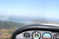 BIRD'S EYES :  Minutes after takeoff, heading west, Avila Beach came into full view from the cockpit. - PHOTO BY JEREMY THOMAS