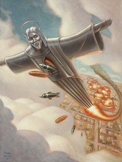 WHO WOULD JESUS BOMB?: - ARTWORK BY MARK BRYAN