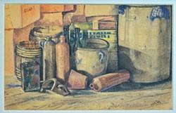 ATTIC CORNER, 1947: - ARTWORK BY NICO VANDENHEUVEL