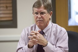 LAME DUCK:  With approximately six months left in office, District Attorney Gerry Shea has received criticism from within his office over political endorsements and his handling of a recent campaign controversy. - FILE PHOTO BY STEVE E. MILLER