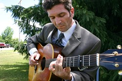 MAGIC FINGERS :  Watch New York guitar sensation and song man William Nicholson make it look easy when he plays Linnaea's Café on June 13. - PHOTO COURTESY OF WILLIAM NICHOLSON