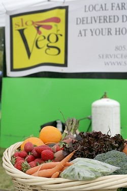 FRESH VEGGIES TO YOUR DOOR! :  SLO Veg delivers farm-fresh fruits and vegetables right to your home! - PHOTO BY GLEN STARKEY