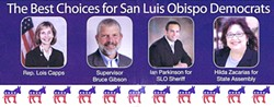 READ THE FINE PRINT :  Registered Democrats have been receiving mailed fliers that at first glance appear to be from the Democratic Party, but endorse Republican candidates.