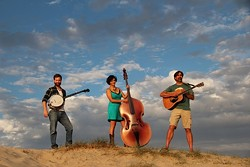 DUNEGRASS:  New trio Just Gravy (left to right: Ryan Sayer, Colleen Gnos, and Alan Vogan) plays Jan. 29 at Shell Café. - PHOTO COURTESY OF JUST GRAVY