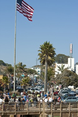 ATASCADERO IN FIVE BLOCKS:  On any particular summer day, Pismo Beach may have a temporary population between 18,000 and 35,000. - PHOTO BY STEVE E. MILLER