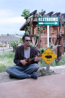 GOOD MUSIC, GOOD CAUSE:  On June 7 at Castoro Cellars Winery, Brian Joseph (pictured) and Kathrin Shorr play a benefit show for Escuela del Rio, a day program for adults with developmental disabilities in North San Luis Obispo County. - PHOTO COURTESY OF BRIAN JOSEPH