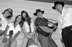 PICKIN' AND GRINNIN' :  The Appellation Bluegrass Band is having a CD release party at the SLO Down Pub on Feb. 24. - PHOTO COURTESY OF THE APPELLATION BLUEGRASS BAND
