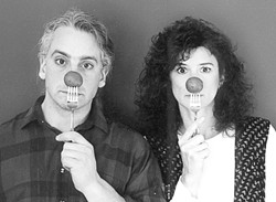 GET MASHED :  Rich Prezioso (left) and Jacquie Manning are the Chicago-based duo Small Potatoes. Catch them at Coalesce Bookstore on Oct 10. and at Castoro Cellars on Oct. 11. - PHOTO COURTESY OF SMALL POTATOES