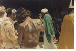 PAINTERLY PAWN :  Participants in the 1986 battle. - PHOTO COURTESY OF NANCY CASTLE