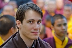 WHEN WEST MEETS EAST :  One of the few westerners to be recognized as a reincarnated master in Tibetan Buddhism, Trinlay Rinpoche will stop at Steynberg Gallery April 30 and May 1 from 7 to 9 p.m. each night for part of a traveling teaching series across Northern America. The complete series will be recorded and available to view online at Bodhipath.org. - PHOTO COURTEY OF SLO BODHI PATH CENTER