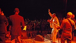 R&B HERO :  Charles Walker and the Dynamites fire up the crowd at last year's Live Oak. - PHOTO BY GARY ROBERTSHAW