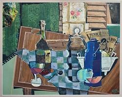 STILL LIFE WITH PAPER, 2012: - ARTWORK BY NICO VANDENHEUVEL