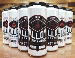 CANNED WINE?:  Yes, it's a thing, and Makers & Allies has given the packaging a blue-collar appeal aimed at millennials. - IMAGE COURTESY OF MAKERS & ALLIES