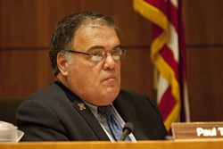 PETULANT PAUL :  Supervisor Paul Teixeira made few motions in 2011, but made headlines for his feud with an advisory council. - PHOTO BY STEVE E. MILLER