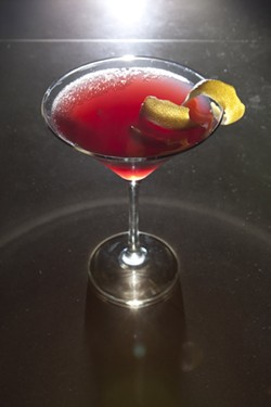 UNDERWORLD GODDESS:  Matt's favorite—the thick and sultry creation of Luna Red's Rylie Houston, The Stealing Persephone—is a drink sweet enough for the ladies but heavy enough that gentlemen need not feel ashamed. - PHOTO BY STEVE E. MILLER